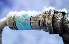 Frozen pipe repairs - water leak repairs.